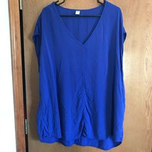 FLASH SALE! Old Navy Blue Silky Top XXL Tall